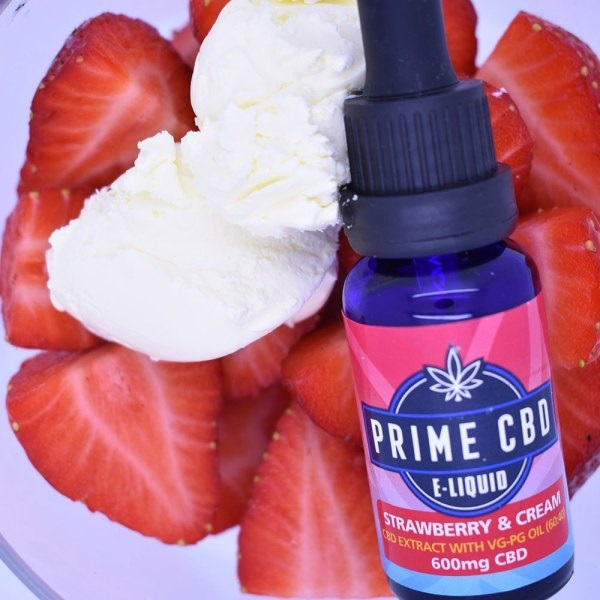 PrimeCBD E-Liquid Strawberry & Cream