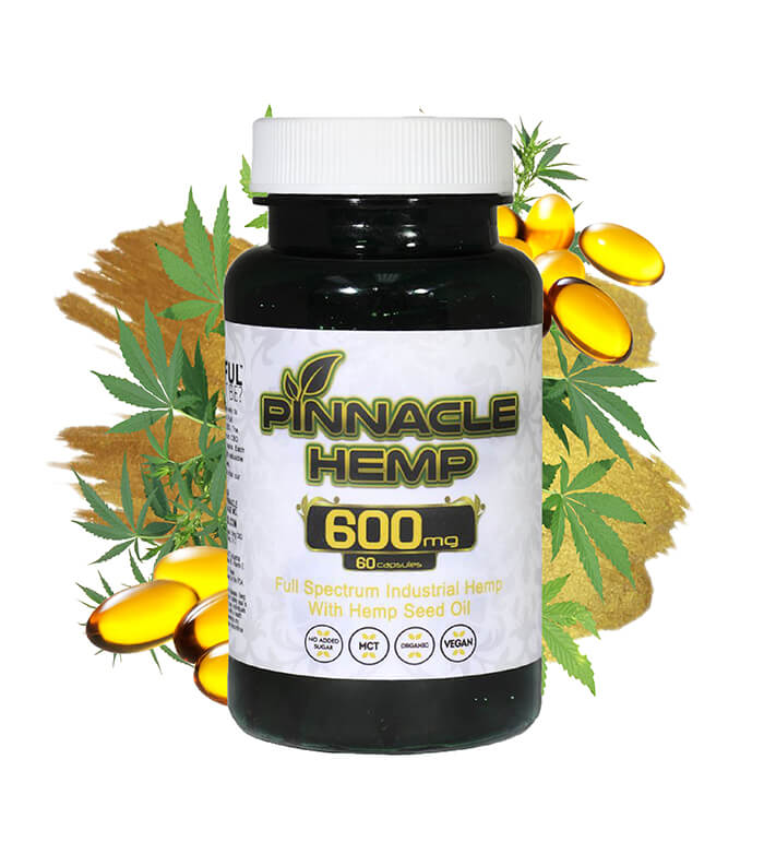 CBD Capsules 60ct – 600MG By Pinnacle